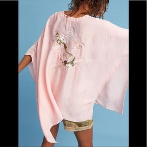 Anthropologie Floreat June Embroidered Poncho